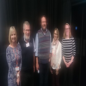 LtoR Sue Howard, Frank Gray, James Paterson, Iola Baines, Ruth Washbrook (in soft focus!)